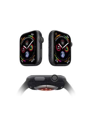 Защитная пленка MOCOLL для корпуса Apple Watch 44mm (2шт) Кожа Черная