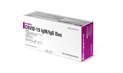 Экспресс тест на антитела STANDARD Q COVID-19 IGM/IGG DUO (в упаковке на 20 человек)