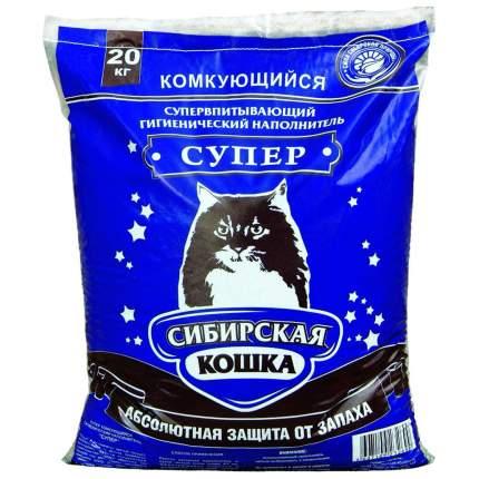 Комкующийся наполнитель для кошек Сибирская кошка Супер, бентонитовый, 20 кг, 20 л
