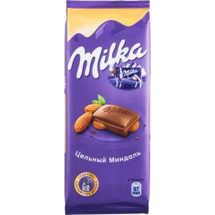 Шоколад молочный Milka с цельным миндалем 90 г