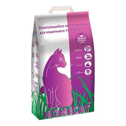 Комкующийся наполнитель для кошек HOMECAT бентонитовый, 10 кг, 16 л