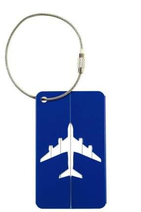 Бирка багажная Verona Plane, синий