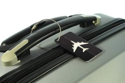 Бирка багажная Verona Plane, черный