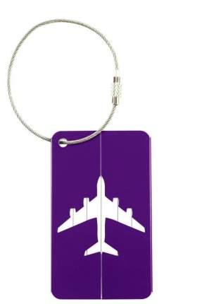 Бирка багажная Verona Plane, фиолетовый