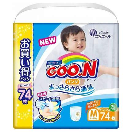 Подгузники-трусики Goon Ultra Jumbo Pack М 6-12 кг 74 шт