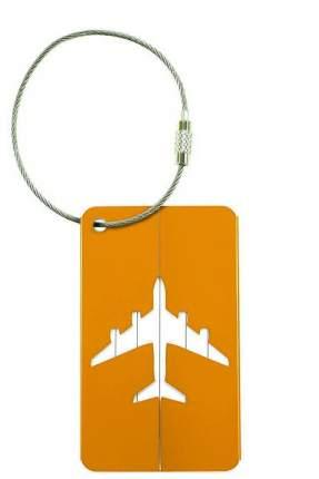 Бирка багажная Verona Plane, оранжевый