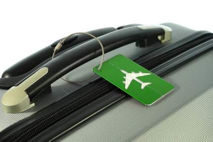 Бирка багажная Verona Plane, зеленый