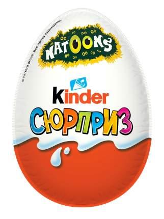 Яйцо Kinder Сюрприз из молочного шоколада с игрушкой животные Natoons 20 г