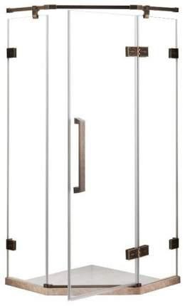 Душевое ограждение Grossman ST-90BRD бронза, 90х90, с распашными дверьми