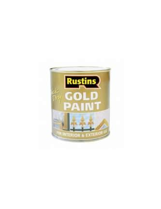 Золотая быстросохнущая краска Rustins Gold Paint 100 ml.