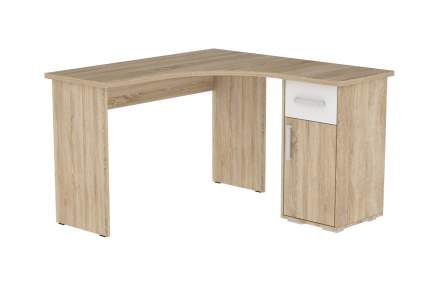 Компьютерный стол Mebelson Лайт-1, дуб сонома/белый
