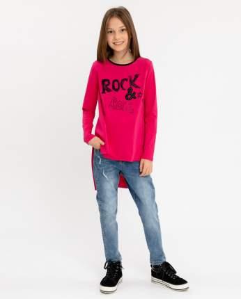 Туника с удлиненной спинкой для девочек Gulliver, цв. розовый, р-р 134