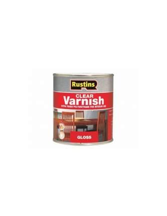Лак полиуретановый глянцевый Rustins Poly Varnish Gloss  Mahogany, цвет: махагон, 500 мл.