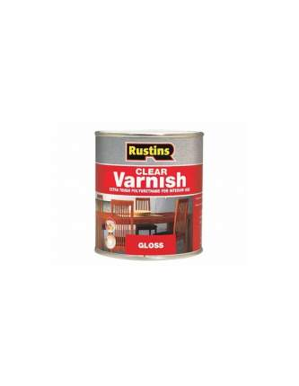 Лак полиуретановый глянцевый Rustins  Poly Varnish Gloss Walnut, цвет: орех, 500 мл.