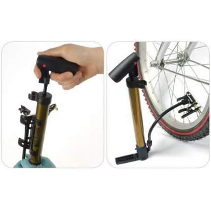 Портативный насос для велосипедов с держателем, красный, MoscowCycling MC-PUMP-03