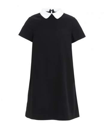 Платье со съемным воротничком для девочек Gulliver, цв. черный, р-р 170