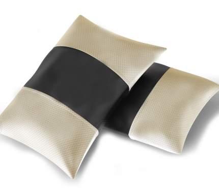 АвтоЛидер Автомобильная подушка (поясничный подпор, держатель-резинка под подголовник). Эк