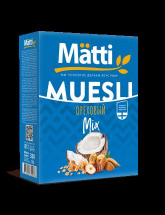 "Mätti Мюсли ""Ореховый микс"" 330 г"