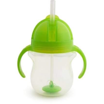 Поильник Munchkin click lock с трубочкой и с ручками 207 мл зеленый