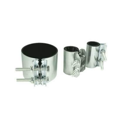 Хомут ремонтный односторонний сталь оц Краб Ду 25 (Дн 32-35) L=70мм Сансфера 17003