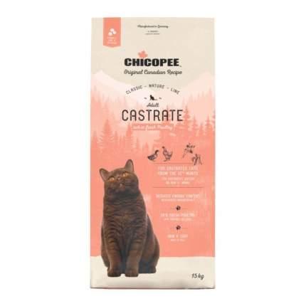 Сухой корм для кошек Chicopee CNL Cat Castrate Poultry, домашняя птица, 1шт, 15кг