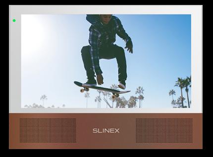 Видеодомофон Slinex Sonik 7 Белый + Серебро или Золотой Песок