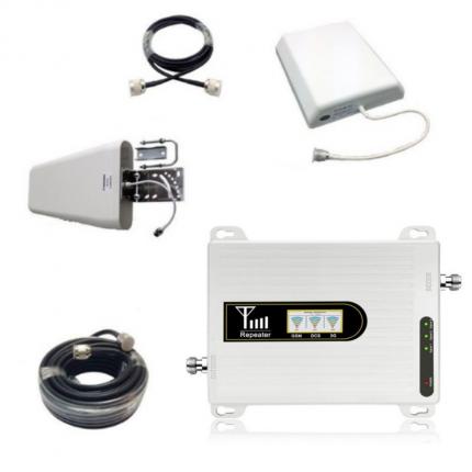 Усилитель сигнала сотовой связи GSM/3G/4G - Комплект Telestone 900/1800/2100 МГц