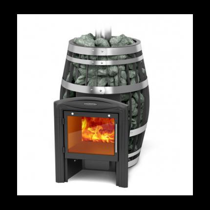 Дровяная печь для бани TMF Саяны 2015 XXL Витра Carbon с т/о