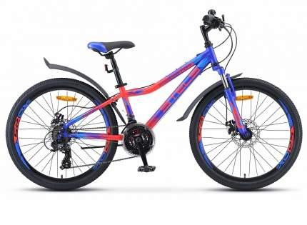 """Велосипед Stels Navigator 410 MD 24 21-sp V010 2019 13"""" синий/красный"""