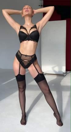 Пояс для чулок женский Seduction Rosemary черный XL