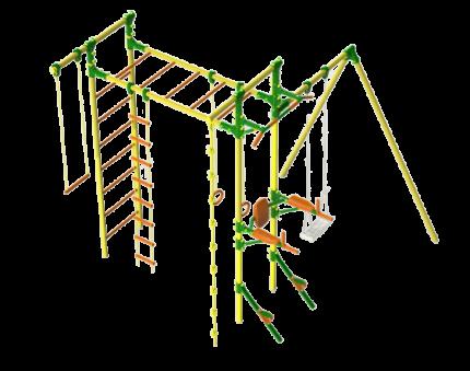 Детский спортивный комплекс KisPis Leco-IT Outdoor с брусьями и турником