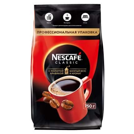 Кофе Nescafe classic 100% растворимый с добавлением жареного молотого кофе 750 г