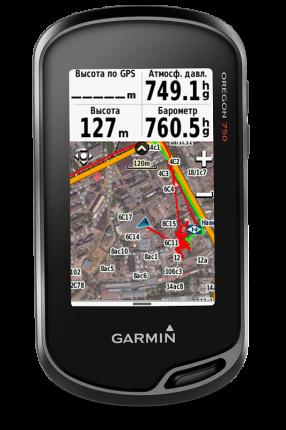 Туристический навигатор Garmin Oregon 750t GPS Topo Russia черный