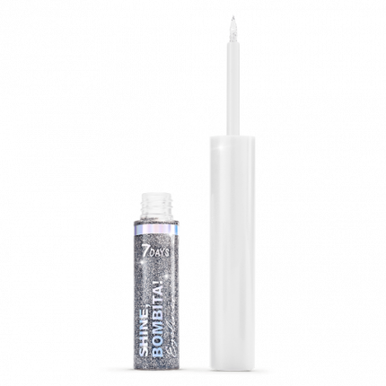Мерцающая подводка для глаз7DAYS  SHINE, BOMBITA! / 606 Silver, 4,8 мл
