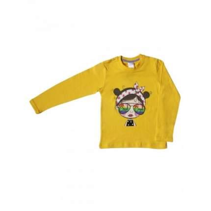 Джемпер для девочек Bella veza, цв. желтый; фиолетовый, р-р 122