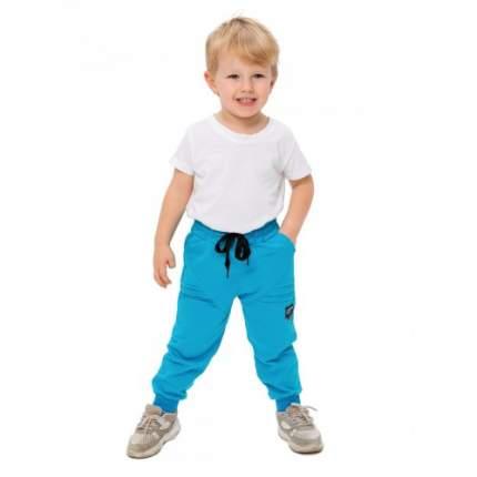Брюки трикотажные для мальчиков Ciggo, цв. голубой; зеленый, р-р 86