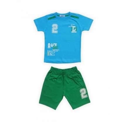 Комплект для мальчиков Ciggo, цв. голубой; зеленый, р-р 104