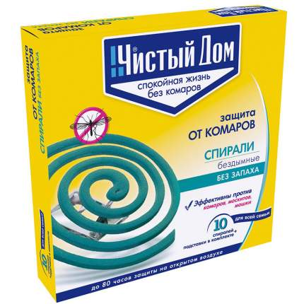 Спираль от комаров Чистый дом 02-076 10 шт.