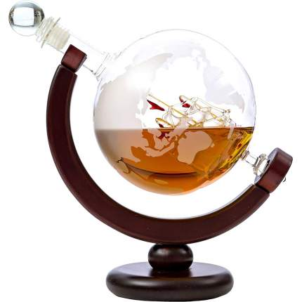 """Декантер для виски """"Корабль в глобусе"""" Adam Franklin AF-GRAF-01, 650 мл"""