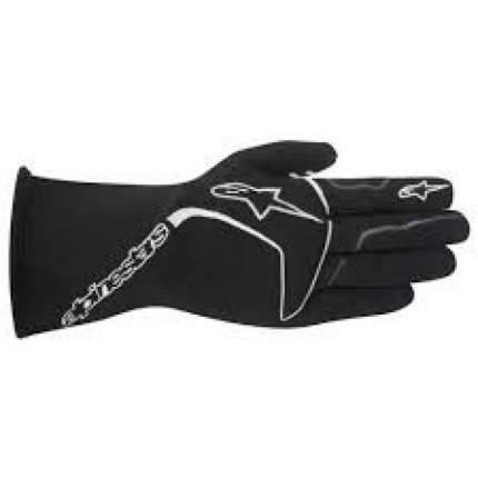 Перчатки (FIA) TECH 1 RACE, черный/белый, р-р S Alpinestars 3551016_12_S