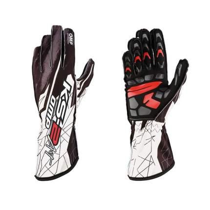 Перчатки для картинга KS-2 ART, чёрный/белый, р-р L OMP Racing KK02748076L