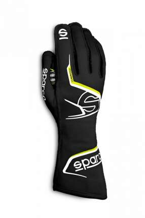 Перчатки для картинга ARROW 2020, чёрный/жёлтый, р-р 8 Sparco 00255708NRGF