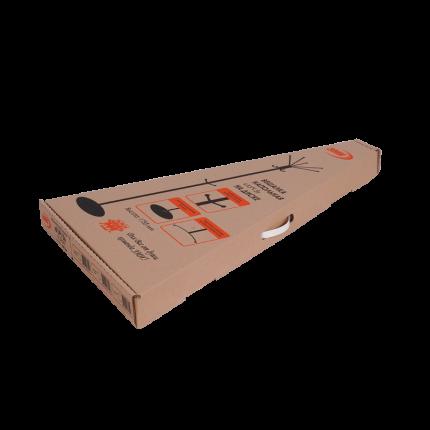 Вешалка напольная ЗМИ  Луч 5 на диске, медный антик