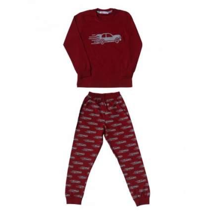 Пижама для мальчиков Ciggo, цв. бордовый, р-р 98