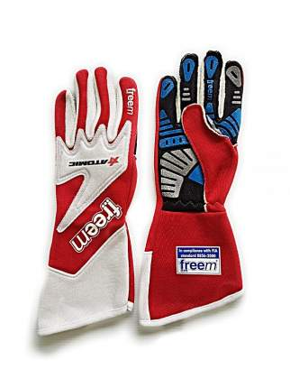 Перчатки для автоспорта (FIA) TAKTO ATOMIC, красный р-р 7 Freem AG0001.GNT7