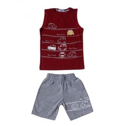 Комплект для мальчиков Ciggo, цв. бордовый, р-р 98