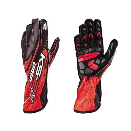 Перчатки для картинга KS-2 ART, чёрный/красный, р-р M OMP Racing KK02748073M