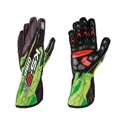 Перчатки для картинга KS-2 ART, чёрный/зелёный, р-р M OMP Racing KK02748274M