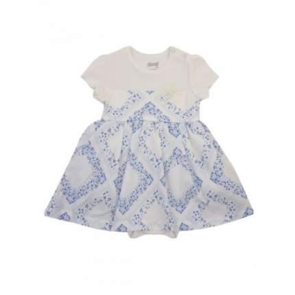 Боди-платье для девочек с нарядной текстильной юбкой KIDAXI BABY, цв. голубой, р-р 92