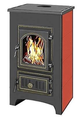 Печь-камин Везувий ПК-01(270) красный пристенный